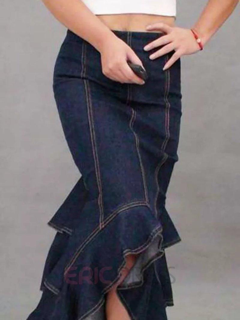 Юбка в пол из джинсов сшить юбку