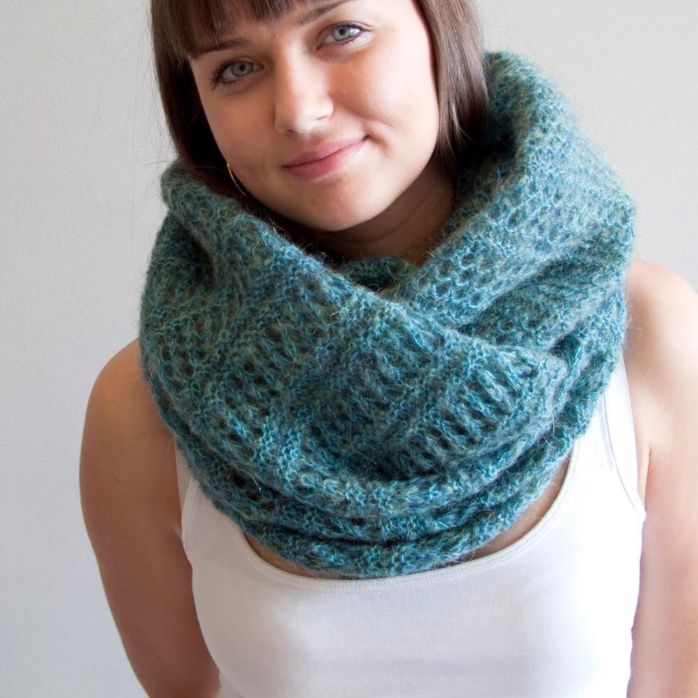 Вязание снудов шарфов хомутов 81