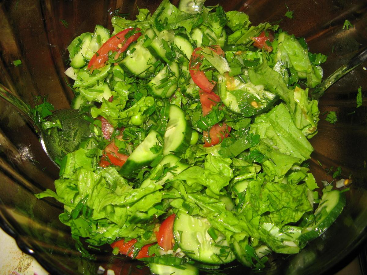 Салат зеленый рецепт