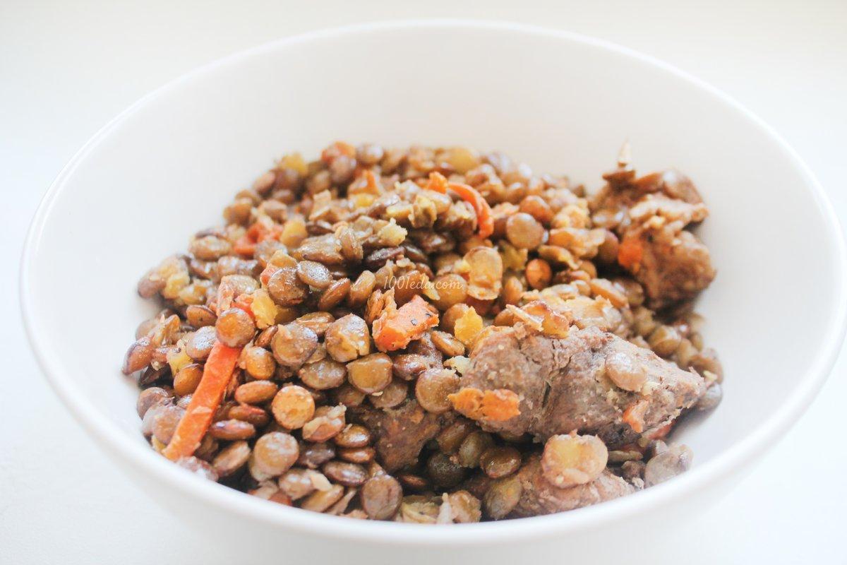 Чечевица в мультиварке с мясом рецепт с фото