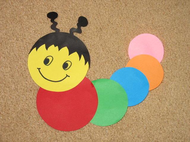 Поделки для детей из цветного картона
