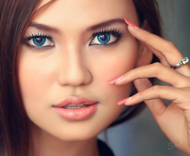 Фото дневной макияж для глаз для голубых глаз