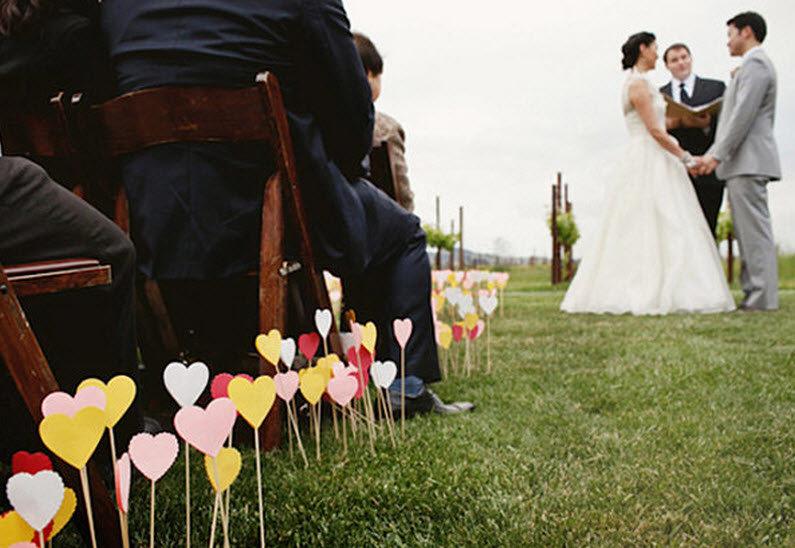 Декор свадьбы на природе