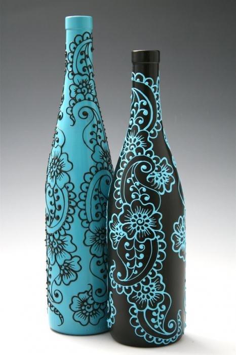 Как разукрасить красиво вазу