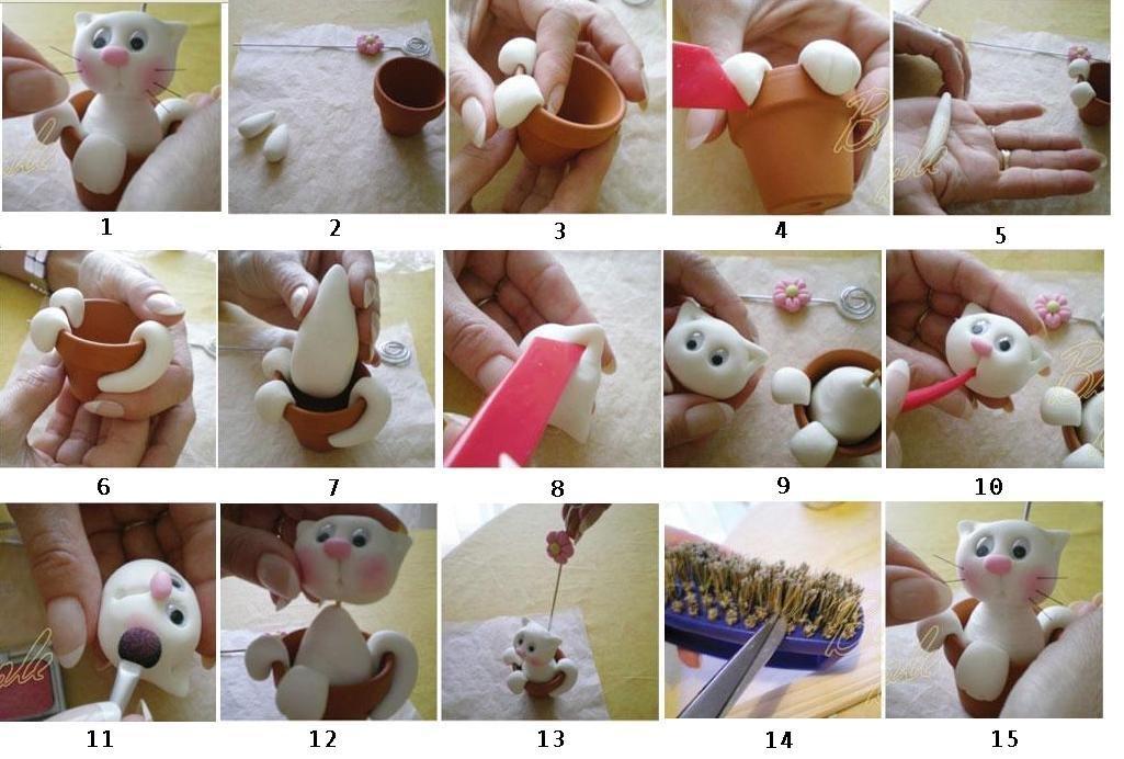 Фигурки из соленого теста своими руками для начинающих пошагово 81