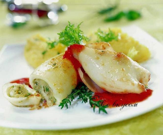 Кальмары фаршированные рецепты приготовления холодная закуска 134