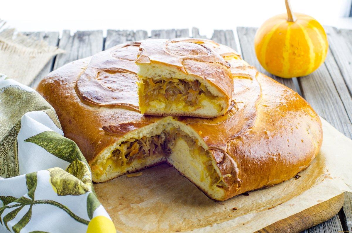 Песочный пирог с капустой рецепт