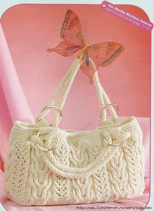 Вязание спицами женские сумки 89