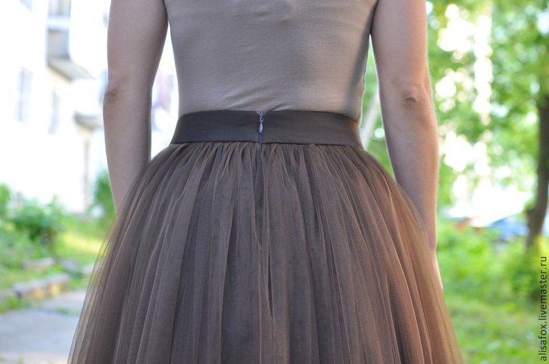 Как сшить юбку из сетки на резинке пошагово
