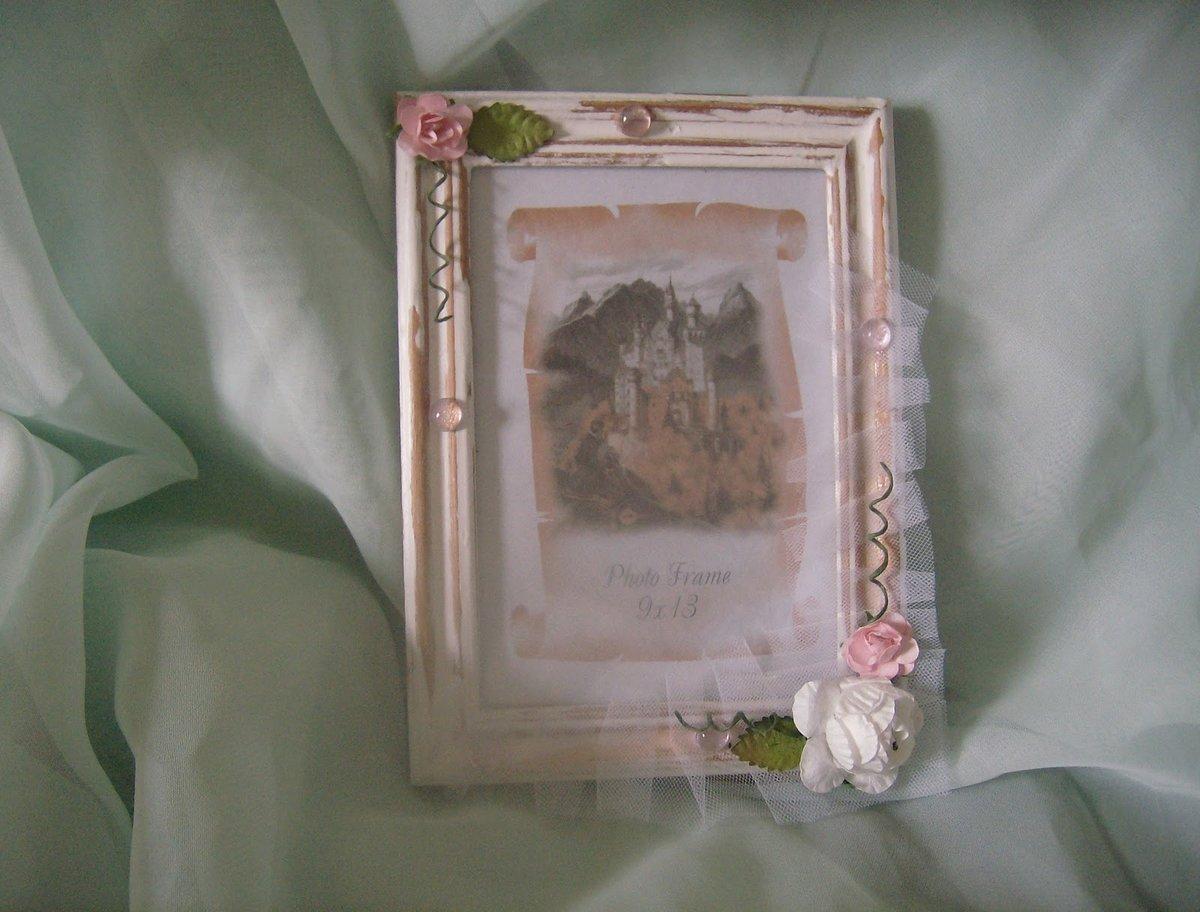 Фото рамки своими руками в стиле шебби шик