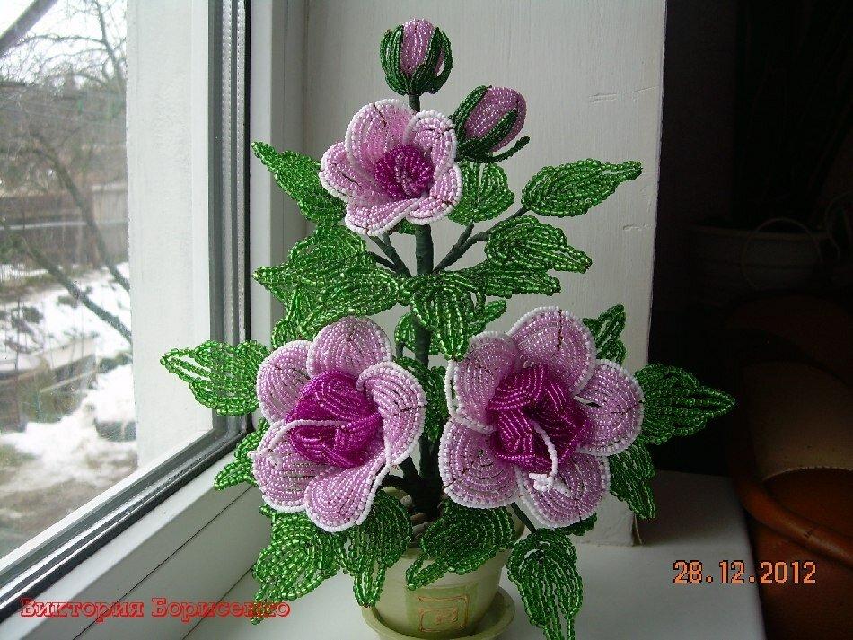 Бисероплетение цветы мастер