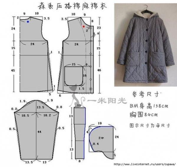 Как сшить пальто самому выкройки 44