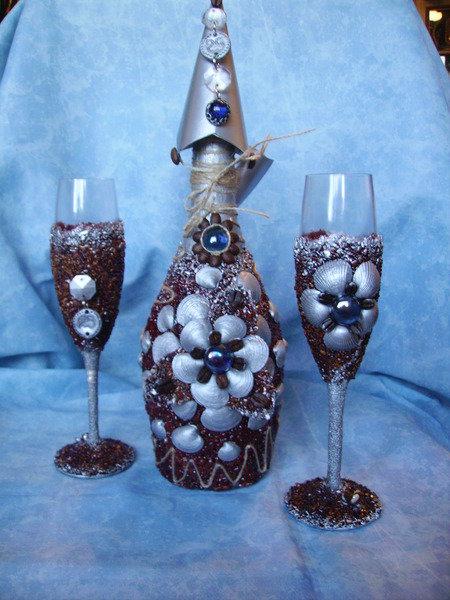 Бутылки своими руками из ракушек своими руками 42