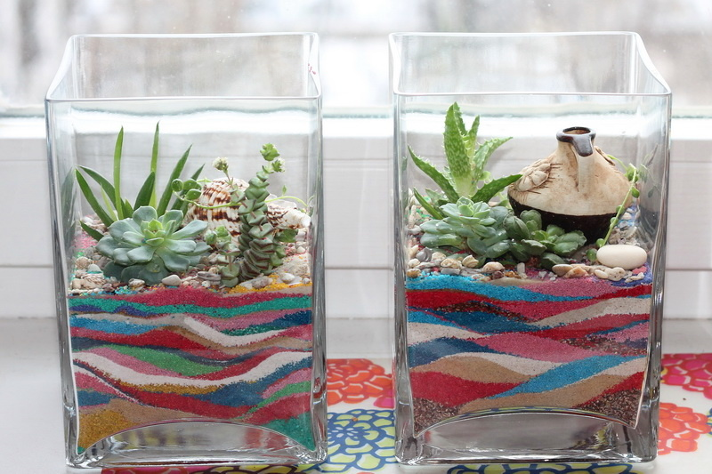 Как сделать в флорариуме с песком