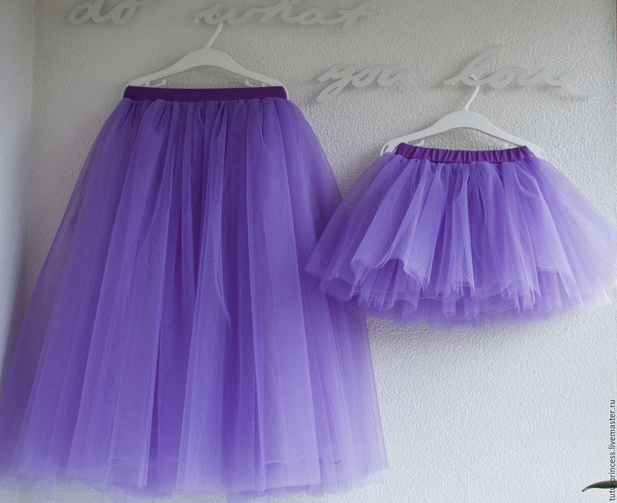 Как сшить юбку из сетки, из 7