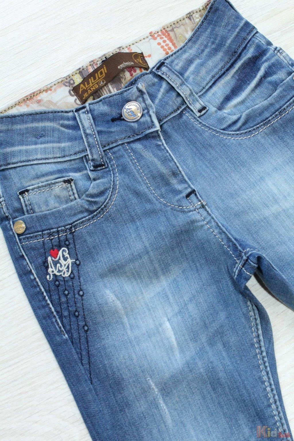 Джинсы с вышивкой на кармане 32