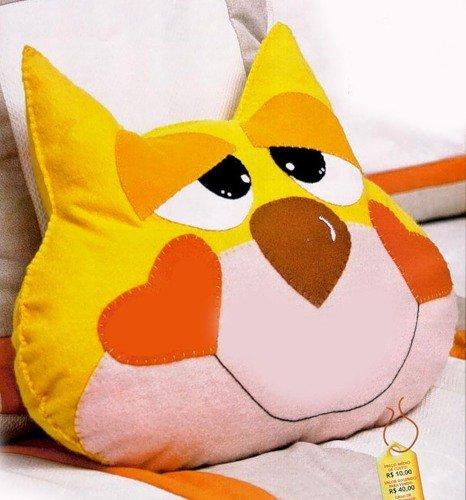 Коты подушки из ткани с схемой