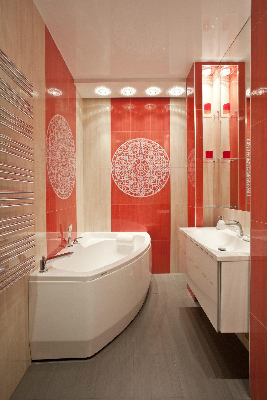 Современные ванные 4 метра дизайн