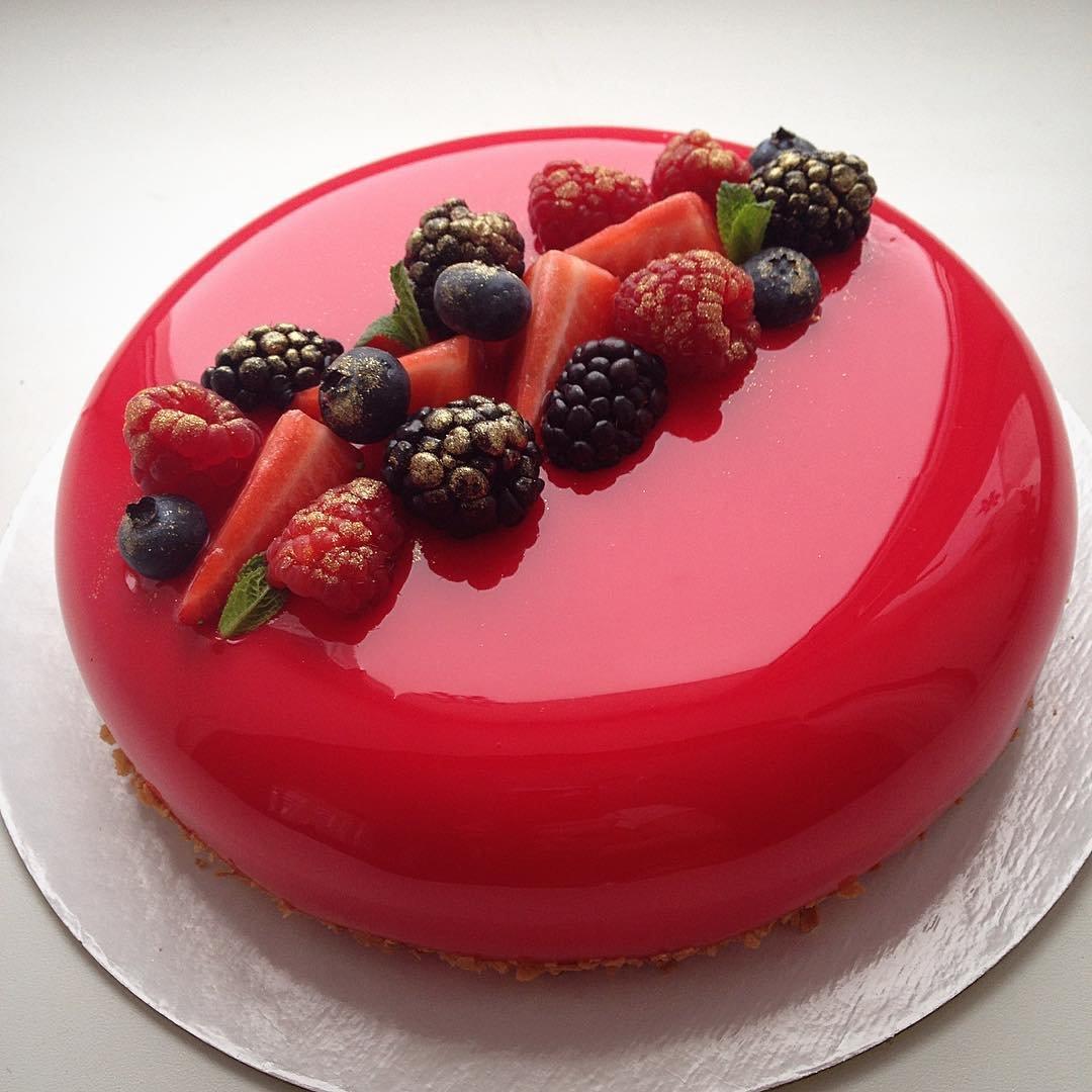 Приготовить торт с зеркальной глазурью рецепт с фото пошагово