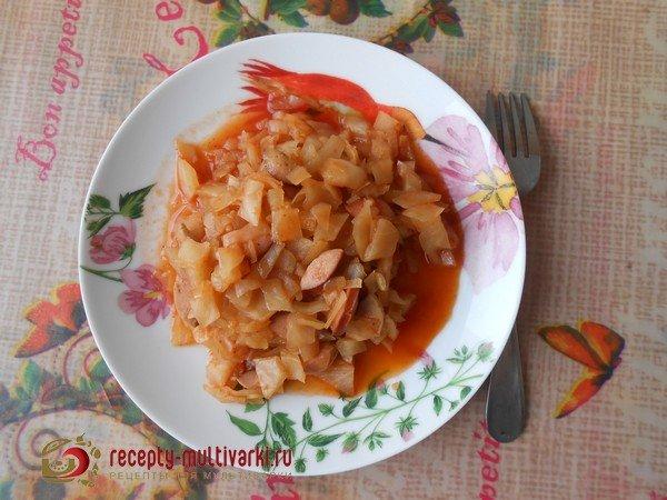 Солянка с сосисками в мультиварке рецепт с пошаговый