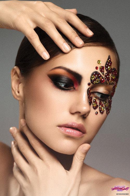 Подиумный макияж для фотосессии