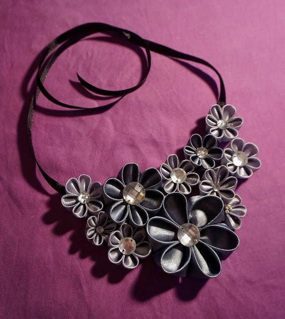 Ожерелье своими руками канзаши 83