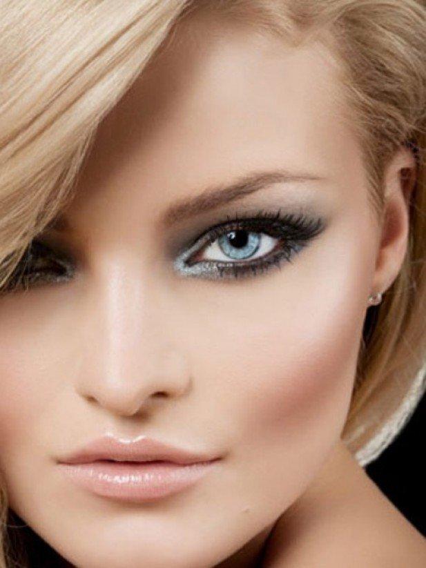 Фото макияжа для серых глаз и светлой кожи