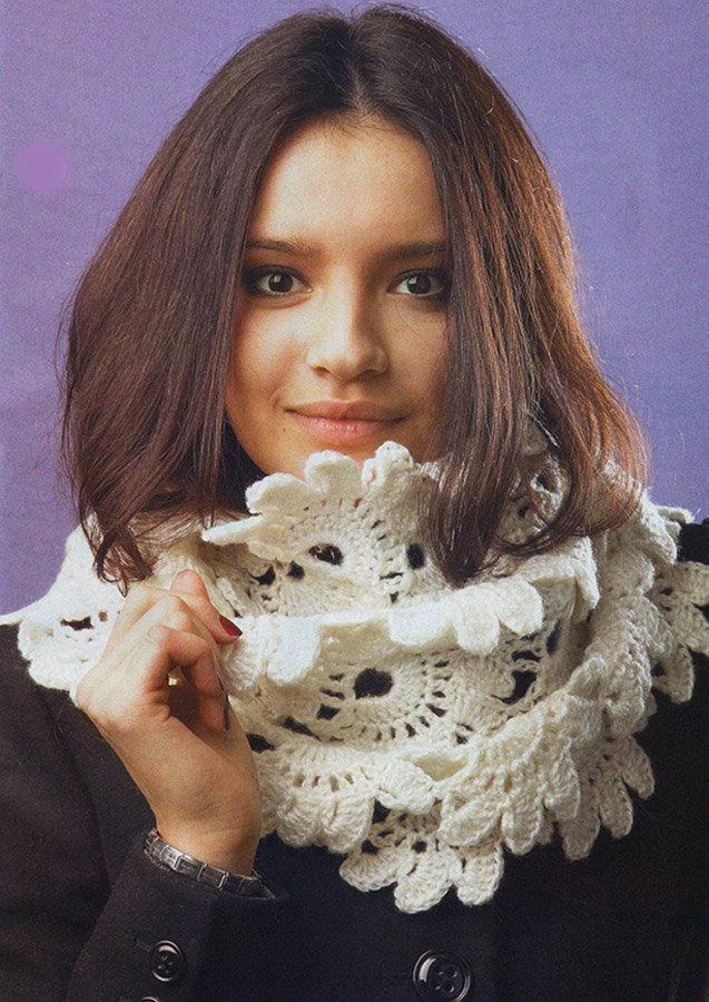 Ленточное вязание шарфов спицами