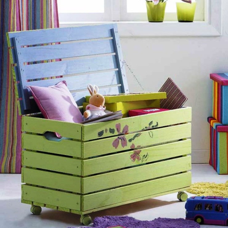 Ящики для хранения детских игрушек своими руками 69