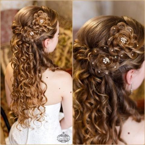 Выпускные детские причёски на длинные волосы фото