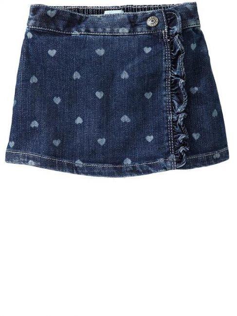 Как сшить юбку для девочки из джинса 93