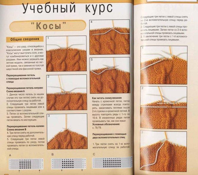 Вязание на спицах с описанием и инструкциями 39