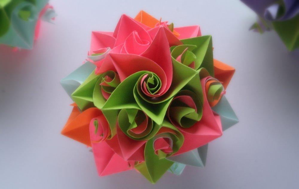 Цветок счастья из бумаги своими руками 486