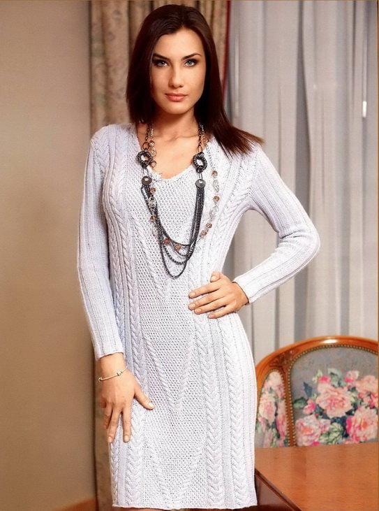 Вязание для женщин платье 65