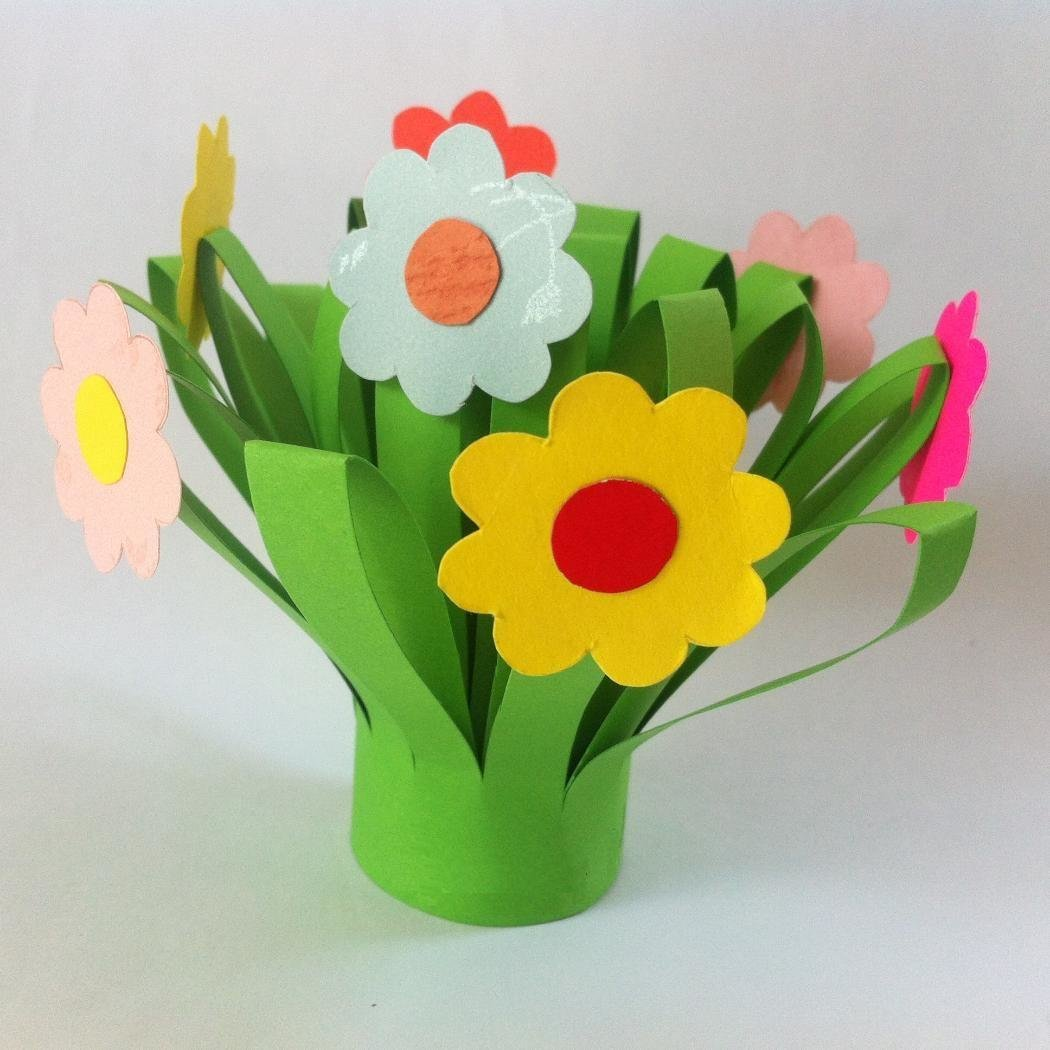 Летние цветы из бумаги