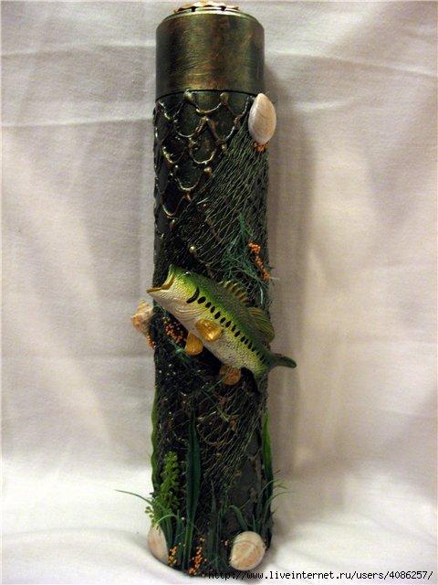 Как сшить костюм рыбака на бутылку