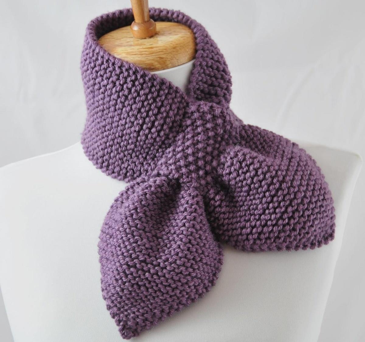Вязание шарф с петлей 198