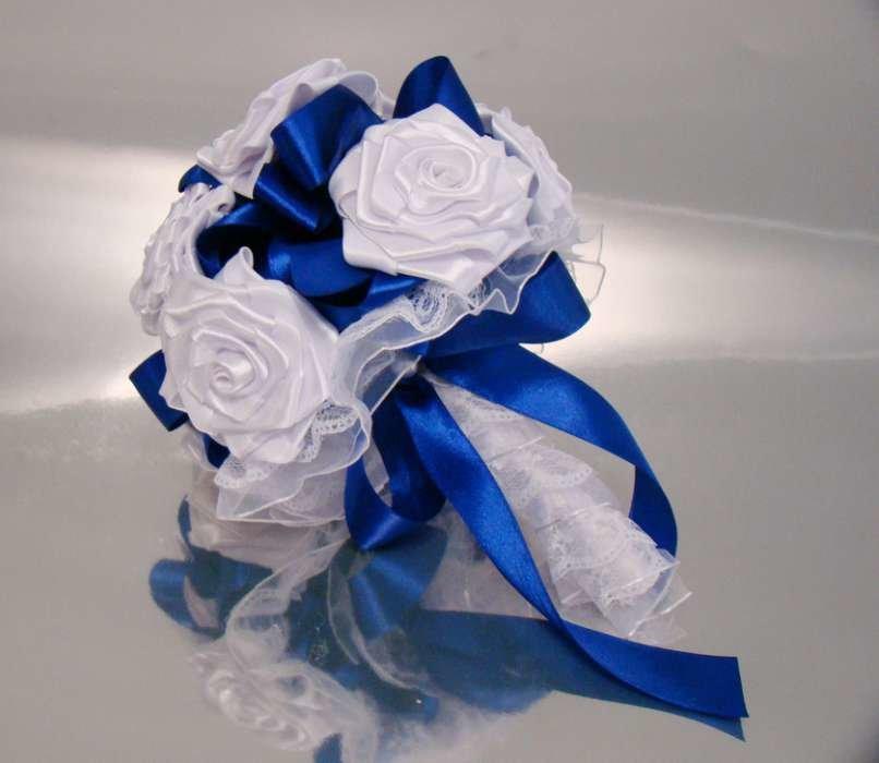 Букет невест из атласных лент своими руками 328