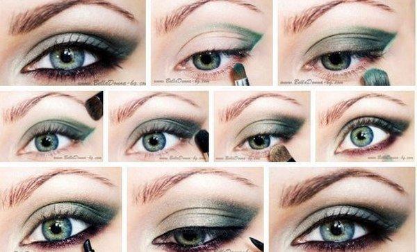 Макияж для серых глаз для овального лица