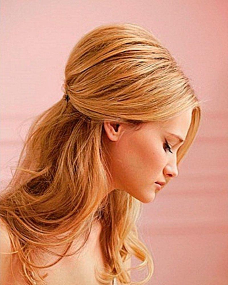 Прически с начесом на редкие волосы