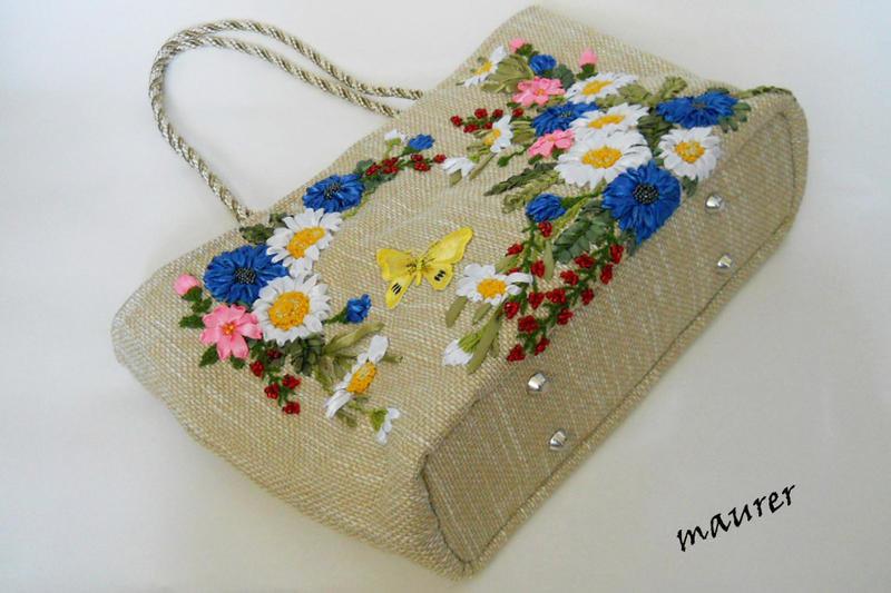 Вышитые сумки из ткани своими руками 53