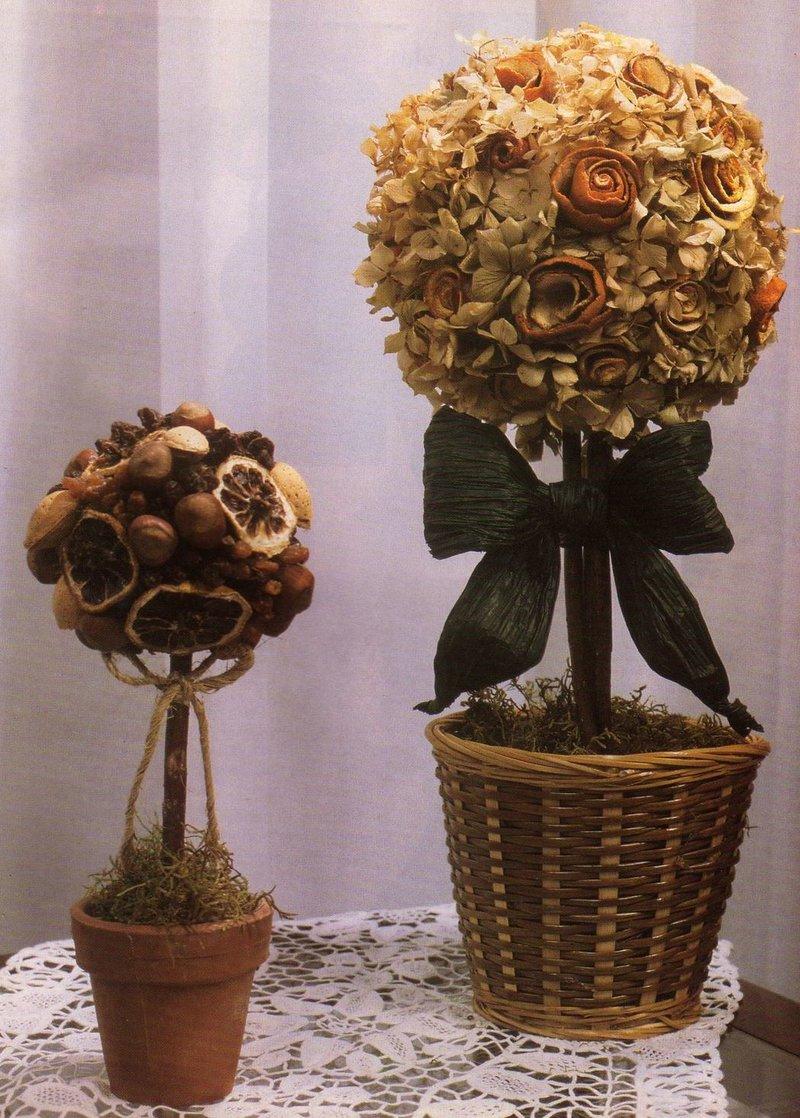 Цветы и деревья своими руками для дома