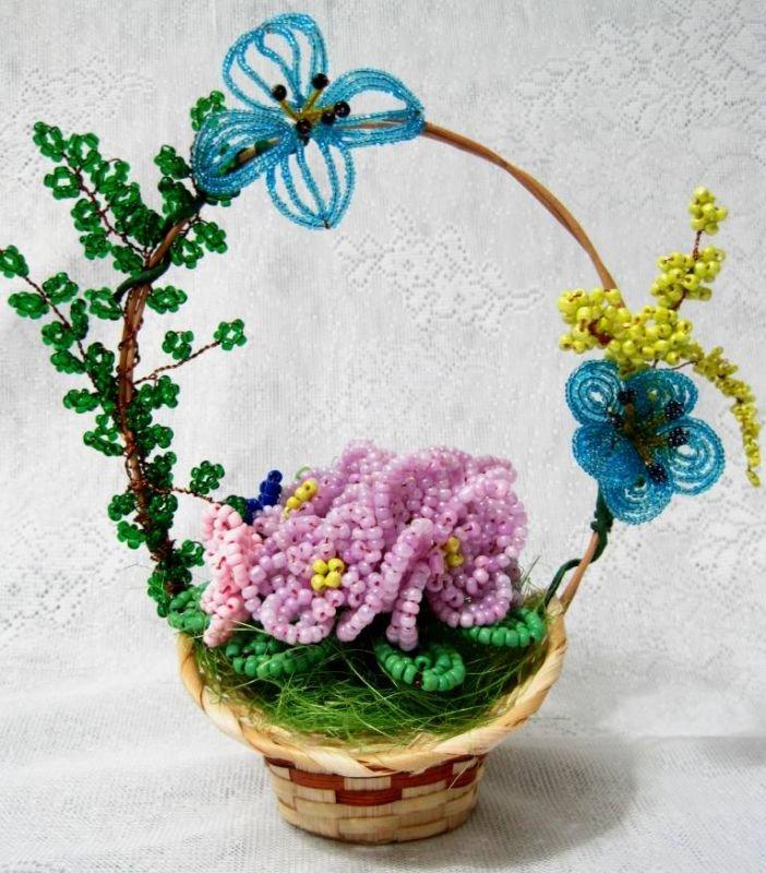 Цветы из бисера своими руками на подарок 61