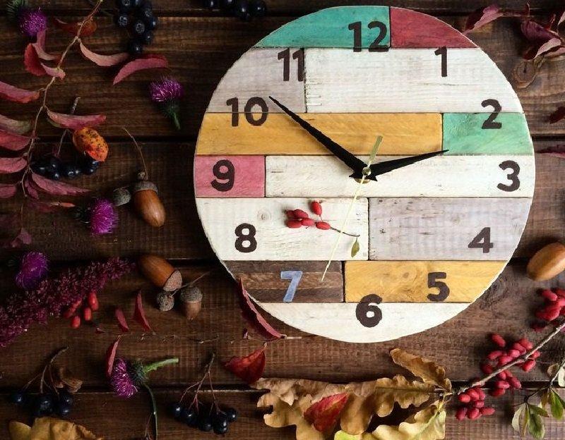 Креативные настенные часы своими руками 14