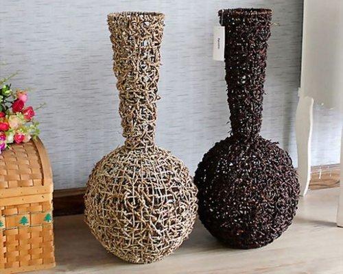 Как оформить вазу своими руками из подручных материалов 45