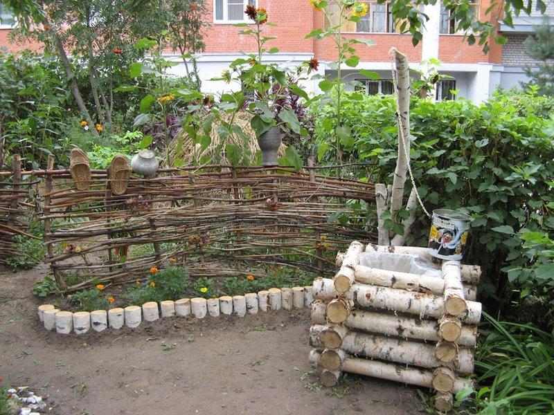 Декор на приусадебном участке своими руками фото