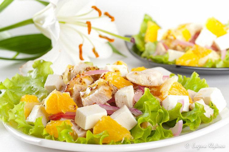 Салат курица с апельсинами рецепт классический