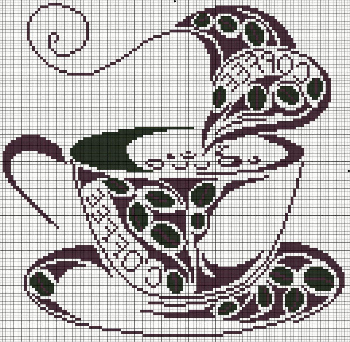 Вышивка кофе схемы 93