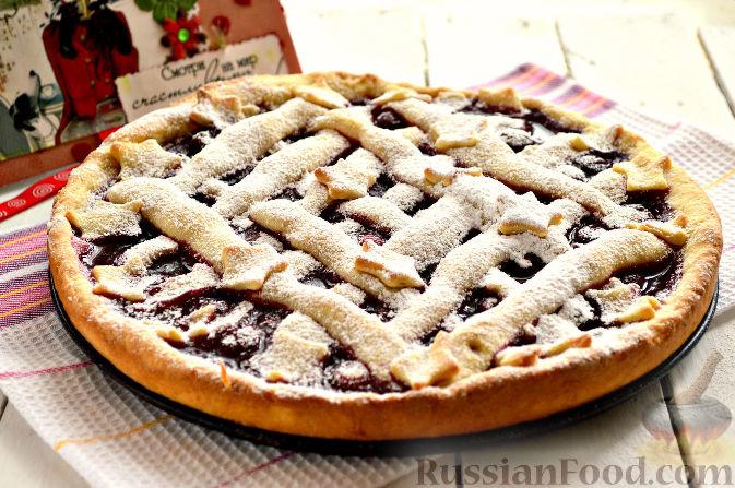 Пирог с вишней рецепт с с крахмалом