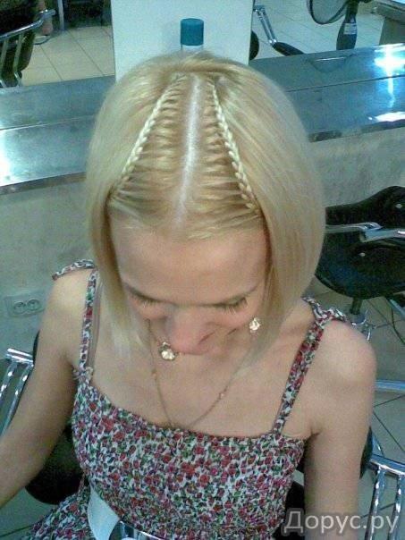 Заплетаем косички на коротких волосах